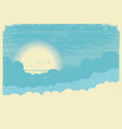 sky with sun background for text vector image