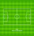 soccer field or football playground vector image