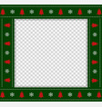 square template christmas photo frame scrapbook vector image vector image