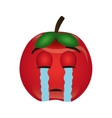 tomato character isolated icon vector image