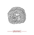uramaki in hand drawn style vector image vector image