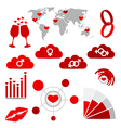 valentines day infographics and wedding design vector image