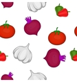 Vegetables pattern cartoon style vector image