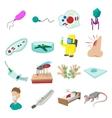 Virus cartoon icons set vector image vector image