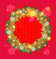 winter festive frame vector image vector image