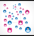 Social network concept with male and female icons vector image