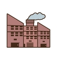 cartoon power plant building with chimney vector image