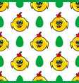seamless pattern with chicken vector image