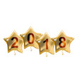 2018 new year colour glossy helium balloons vector image vector image