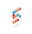 3d cube number 5 logo icon design template vector image vector image