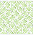 3D green wavy striped pin will grid vector image vector image