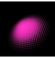 3d halftone circle background vector image