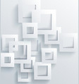 abstract geometric background from gray frames vector image vector image