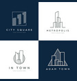 abstract property logo design set vector image