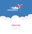 Airplane in the sky have a great vacation card vector image