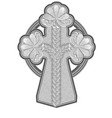 ancient stone cross vector image vector image