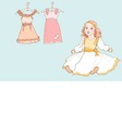 baby girl dress 1 color vector image