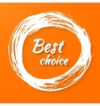 Banner with text - best choice vector image