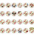 baseball cartoon emojis vector image vector image