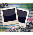Beach Styled Polaroid Background vector image vector image