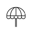 beach umbrella tourism travel thick line vector image