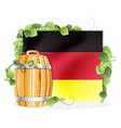 beer barrel and german flag vector image