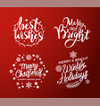 best wishes merry bright christmas winter holidays vector image vector image
