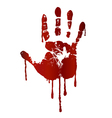 Bloody hand print vector | Price: 1 Credit (USD $1)