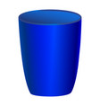 blue glass on white background vector image vector image