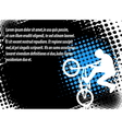 bmx halftone background vector image vector image