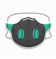 breathing mask with exhalation valves covering vector image vector image