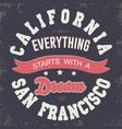 California sport t-shirt typography design vector image