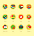circular flags of south africa south sudan vector image vector image