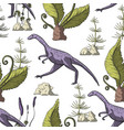 compsognathus dinosaur seamless pattern vector image vector image