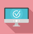 computer monitor online vote icon flat style vector image