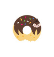 donut sloth vector image vector image
