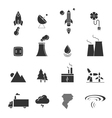 eco creative design icons set vector image vector image