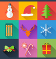festive holidays collection vector image vector image