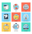 Flat Color Line Design Concepts Icons 20 vector image vector image