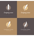 four feather logos vector image vector image
