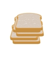 full color with slices of bread vector image vector image