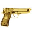 Golden Gun vector image vector image