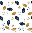 graphic magnolia leaves and jungle spots trendy vector image vector image