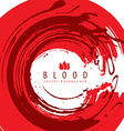 Grunge style round shaped red blood abstract vector image vector image