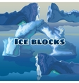 Ice blocks on a blue background vector image