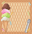 Ice Cream Party Invitation vector image vector image