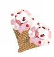Ice cream waffle cones vector image vector image