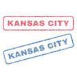 kansas city textile stamps vector image