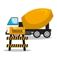 machinary vehicle construction heavy icon vector image