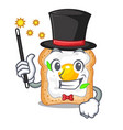 magician sandwich with egg isolated in mascot vector image